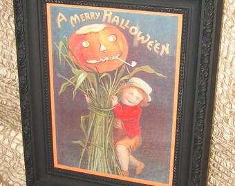 Merry Halloween - Halloween Art Work