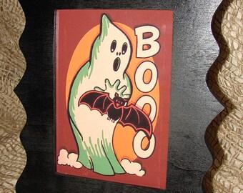 Boo - Halloween Art Work