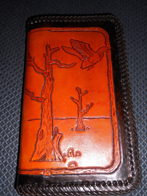 items similar to custom hand tooled leather book cover