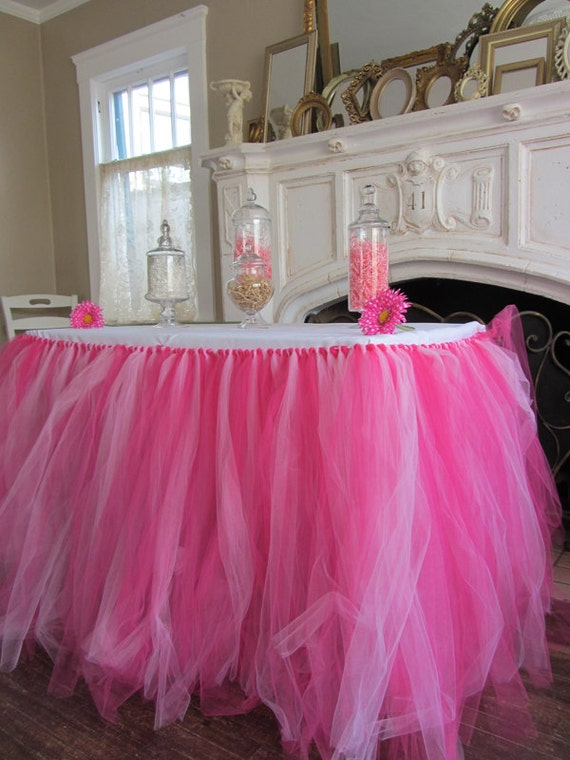 Tulle Tutu Table Skirt Custom Color Your Choice By