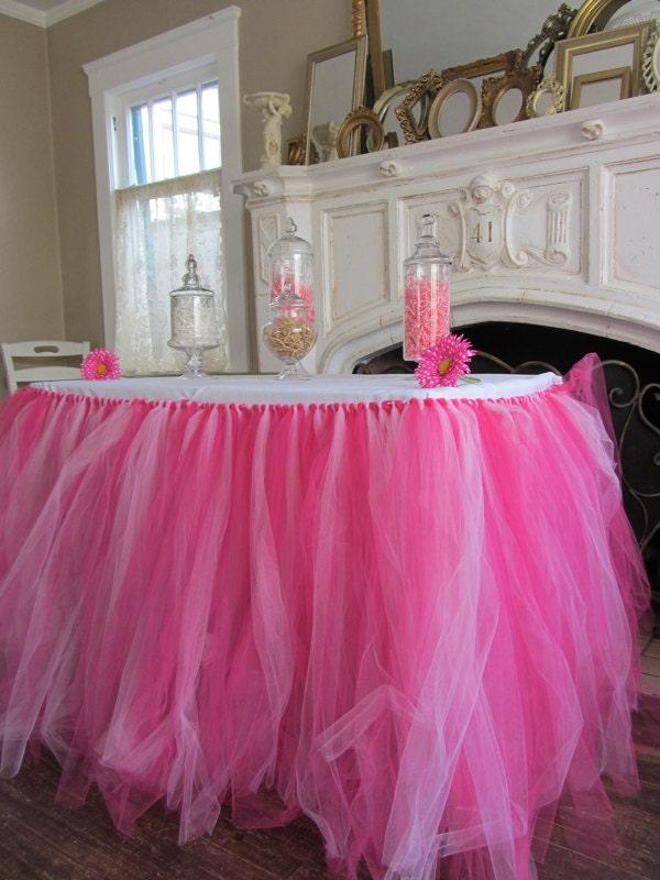Tulle Tutu Table Skirt Custom Color Your Choice By