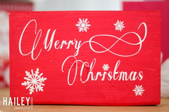 Merry Christmas Wood Sign, Wall Art, Wall Sign