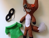 Felix the Fox Doll with Mask and Shirt