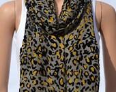Fashion leopard scarf flocking, grey velvet scarf, silk georgette velvet scarves, shawls, women's accessories