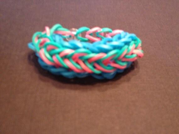 rainbow loom bracelet raindrop pattern
