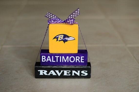 Items Similar To Ravens Football Wood Block Stack