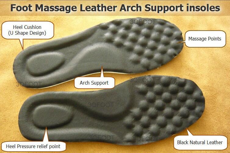 Foot massage leather