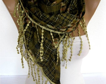 Scarf - Shawl  Elegant Scarf- Fashion Scarf- gift Ideas For Her Women's Scarves-christmas gift-Fashion accessories
