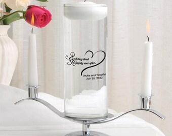 Personalized Floating Wedding Unity Candle Set - Floating Wedding Candle - Personalized Unity Candle - Floating Candle - GC377 HEA