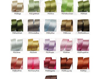 Satin Metallic Ribbon Color Chart