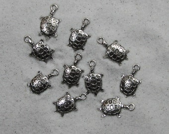 15 Turtle Charms # 31