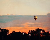 Hot Air Balloon in the morning, Landscape photography, Office/Study Room Decor, Wall Art Print