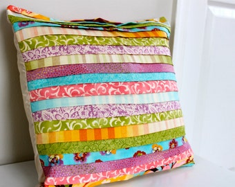 16x16 Pleated Pillow Cover- Coquette Fabric- Ready to Ship