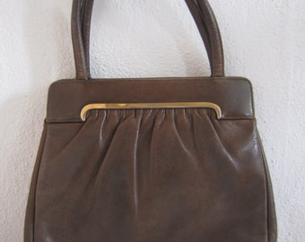 Retro Brown Leather handbag