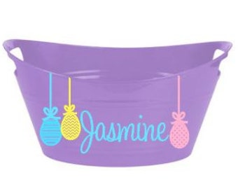 Dangling Easter egg bucket/basket - perfect for egg hunts and gift baskets