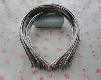 50pcs 4mm Silver plated metal headband with bent end--H3007-50