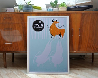 Twin Shadow | A2 screen print poster | limited edition of 30