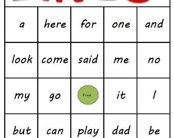 Kindergarten Sight Word Bingo - Printable Download