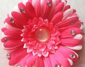Pretty Pink Flower Bow