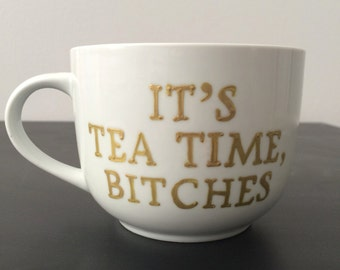 Tea Time wide mug