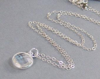 Crystal Quartz,Genuine Quartz,Crystal,Clear,Necklace,April Birtstone,Birthstone Necklace,Clear Stone,Crystal Stone,Stone ,SeaMaidenJewelry