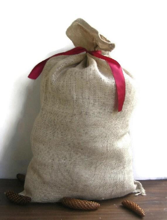 burlap sack jute bag jute sack burlap stocking by zillioneparty. Black Bedroom Furniture Sets. Home Design Ideas