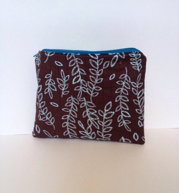 Quilted ipad cover, zipper pouch