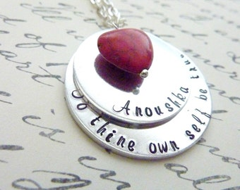 Inspirational Jewelry Necklace Personalized inspiration necklace Hand stamped jewelry