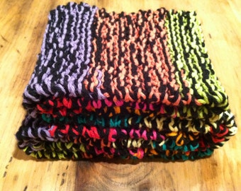 Multi-Colored Extra Long Cotton Scarf