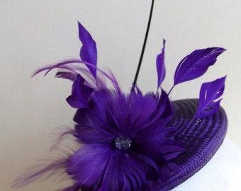 Purple Fascinator Hat - Lavender