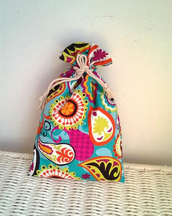 Holiday gift bag christmas cloth fabric wrap