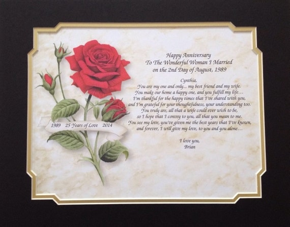 1st Wedding Anniversary Gift For Wife: Items Similar To Anniversary Gift, For Wife, Personalized