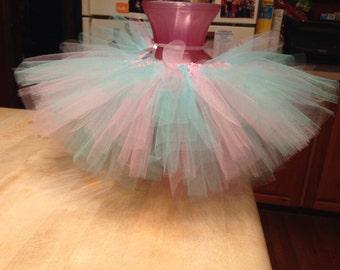 Pink and blue tutu, pink tutu, blue tutu, tutu, newborn tutu, infant tutu, photo prop, birthday tutu