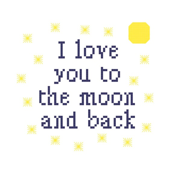 I Love You Quotes: Items Similar To I Love You To The Moon And Back Cross