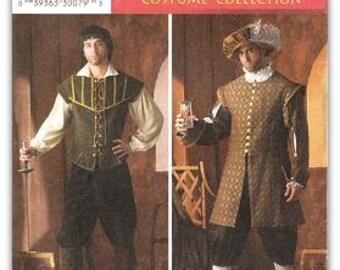 Simplicity 4059 Men's Renaissance Costume Pattern, XS-XL