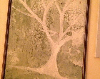 Original Artwork Oil Painting on Canvas of A Tree