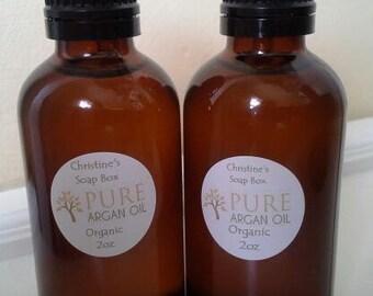 Organic Pure Argan Oil... 2 oz... Unrefined... Moroccan...