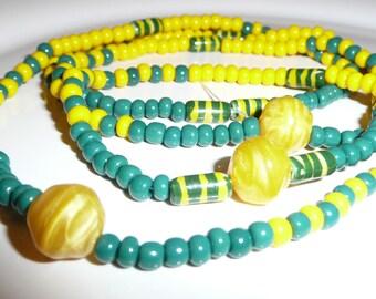 Ileke/Eleke~Ifa~Santeria~ Orisha Orunmila/Orula beaded necklace