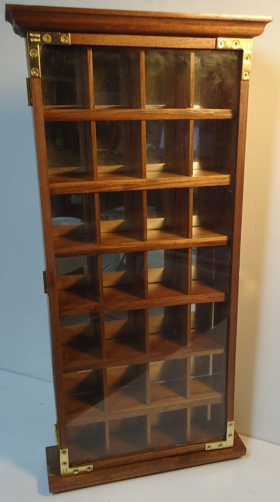 handmade wall mounted shot glass display case or curio. Black Bedroom Furniture Sets. Home Design Ideas