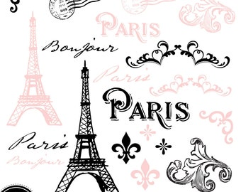 Pink Paris Theme Etsy