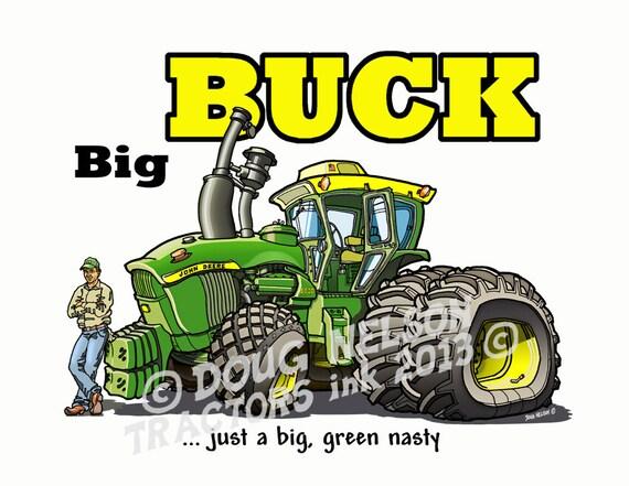 John Deere Tractor Cartoon Prints : Deere tractor cartoon color print