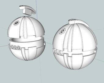 Thermal Detonator from Star Wars Return of the Jedi  3D printed Kit
