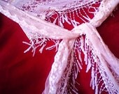 Beautiful  Long Lace Scarf or Shawl