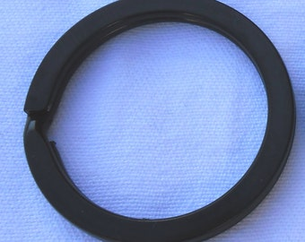 Black Stainless Steel and Silver Nickel Plated Split Rings 1.25 Inch 32mm Pack of 10