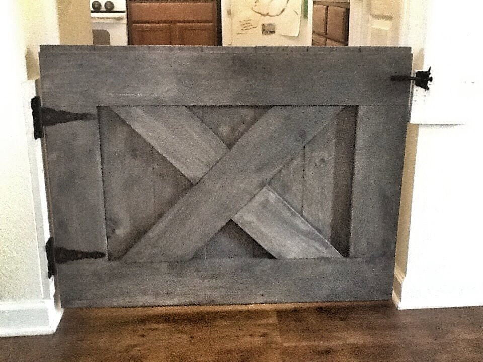 Custom Made Rustic Barn Door Style Baby Gate by RusticLuxeBoutique