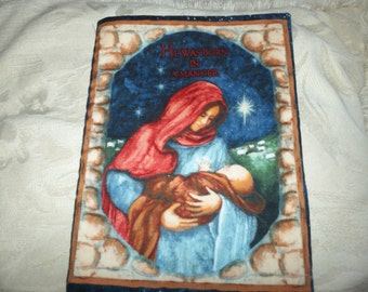 Bautiful fabric book--He was Born In A Manger--Christmas story