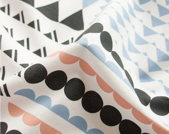 Cotton Fabric Triangle Polka Dot