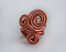Coil Ring - Steampunk Ring - Loki Ring - aluminum wire - 3 colors - optional jewels