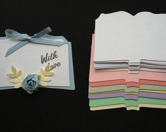 15 Pastel Open Book die cuts for christening religious sympathy cards toppers cardmaking scrapbooking craft