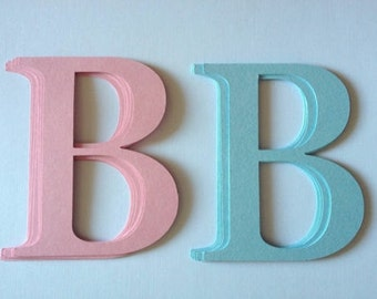 12 large Letter B's for Baby die cuts cards toppers cardmaking scrapbooking craft project